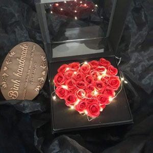 Hộp hoa sáp trái tim, hộp đựng quà, hộp I Love You Hải Phòng