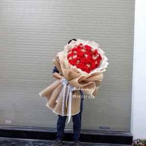 Bó hoa sáp 99 bông, 50 bông Hải Phòng